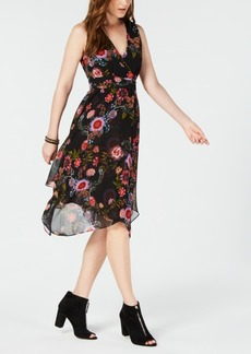 INC International Concepts I.n.c. Printed Surplice Handkerchief-Hem Dress, Created for Macy's