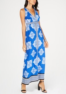 INC International Concepts I.n.c. Printed Surplice-Neck Maxi Dress, Created for Macy's