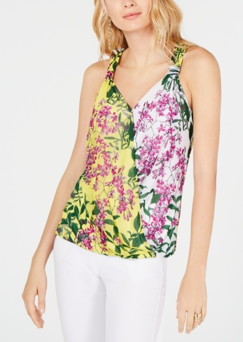 INC International Concepts I.n.c. Petite Surplice Printed Tank Top, Created for Macy's