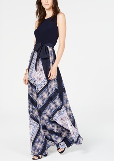 INC International Concepts I.n.c. Printed Tie-Waist Maxi Dress, Created for Macy's