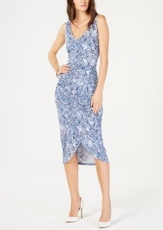 INC International Concepts I.n.c. Printed Tulip-Bottom Dress, Created for Macy's
