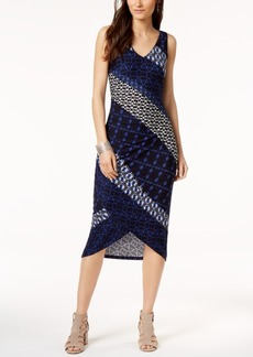 INC International Concepts I.n.c. Printed Tulip-Hem Sheath Dress, Created for Macy's
