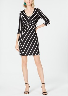 INC International Concepts I.n.c. Printed Twist-Front Dress, Created for Macy's