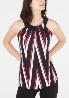 INC International Concepts Inc Printed Twist-Keyhole Halter Top, Created for Macy's