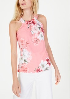 INC International Concepts Inc Printed Twisted Halter Top, Created for Macy's