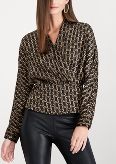 INC International Concepts I.n.c. Printed Wrap Blouse, Created for Macy's