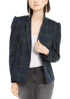INC International Concepts Inc Puff-Sleeve Plaid Jacket, Created for Macy's
