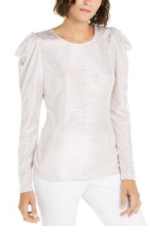 INC International Concepts Inc Puff-Sleeve Shine Top, Created For Macy's