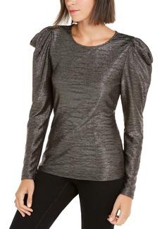 INC International Concepts Inc Puff-Sleeve Shine Top, Created For Macy's