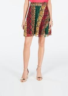 INC International Concepts Inc Python-Print Mini Skirt, Created for Macy's