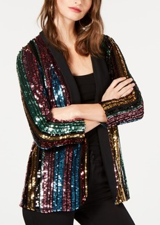 INC International Concepts I.n.c. Rainbow Sequined Blazer, Created for Macy's