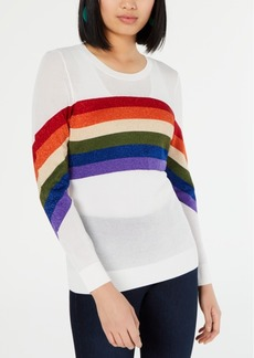 INC International Concepts Inc Rainbow-Stripe Pullover Sweater, Created for Macy's