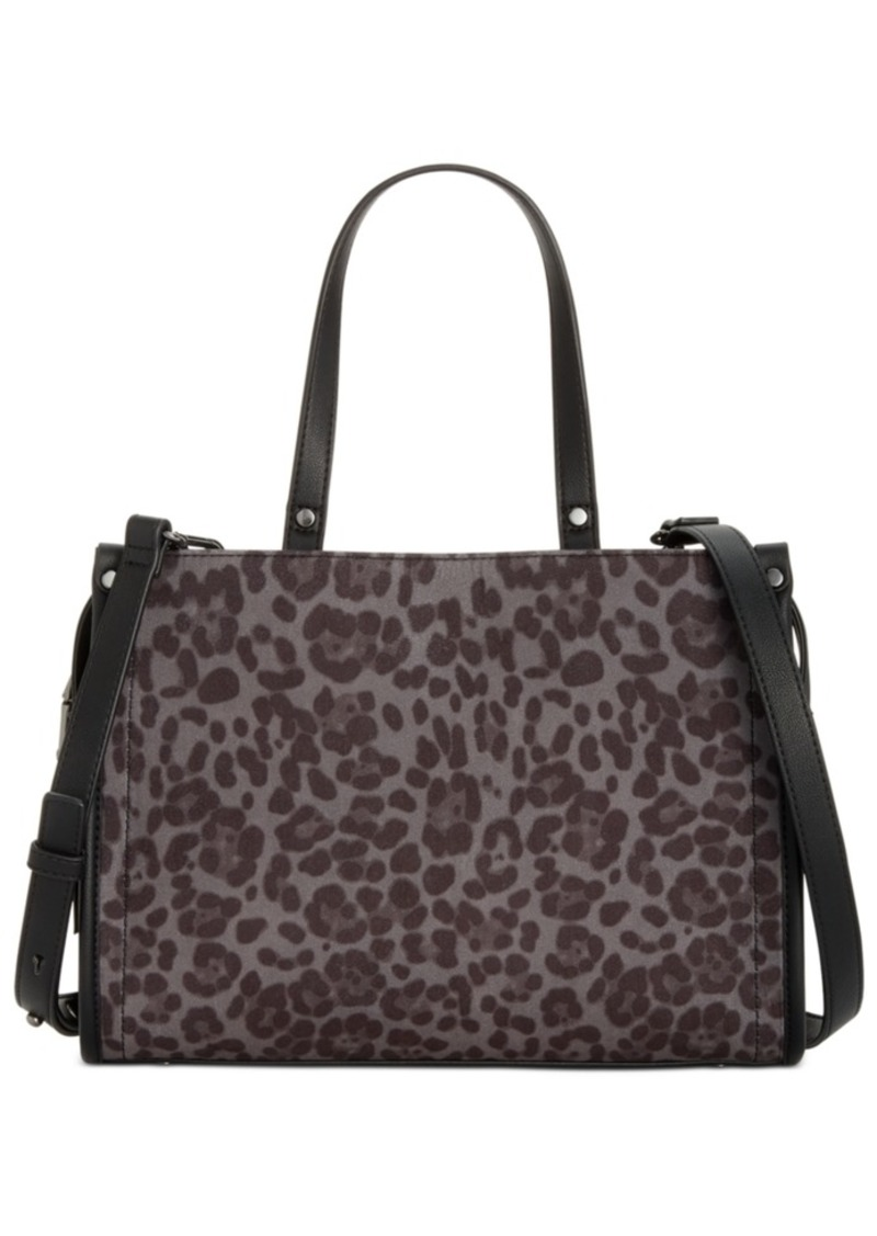 INC International Concepts Inc Remmey Leopard Print Satchel, Created for Macy's
