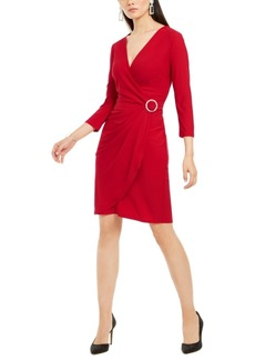 INC International Concepts Inc Rhinestone Wrap Dress, Created For Macy's