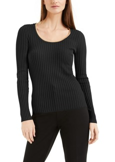INC International Concepts Inc Ribbed Chain-Scoop-Neck Top, Created for Macy's