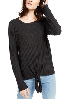 INC International Concepts Inc Ribbed Knotted Sweater, Created for Macy's