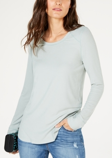INC International Concepts I.n.c. Ribbed Long-Sleeve T-Shirt, Created for Macy's
