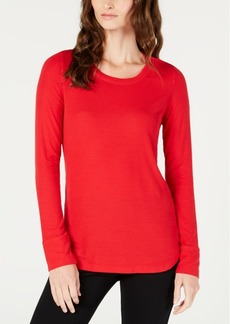 INC International Concepts Inc Ribbed Long-Sleeve T-Shirt, Created for Macy's