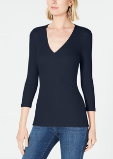 INC International Concepts Inc Ribbed Top, Created for Macy's