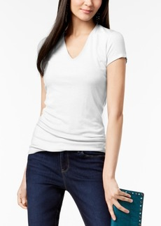 INC International Concepts I.n.c. Petite Ribbed V-Neck Top, Created for Macy's
