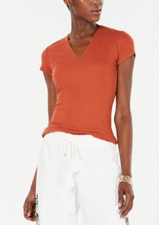 INC International Concepts I.n.c. Ribbed V-Neck Top, Created for Macy's