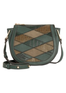 INC International Concepts Inc Rilie Patchwork Saddle Crossbody, Created for Macy's