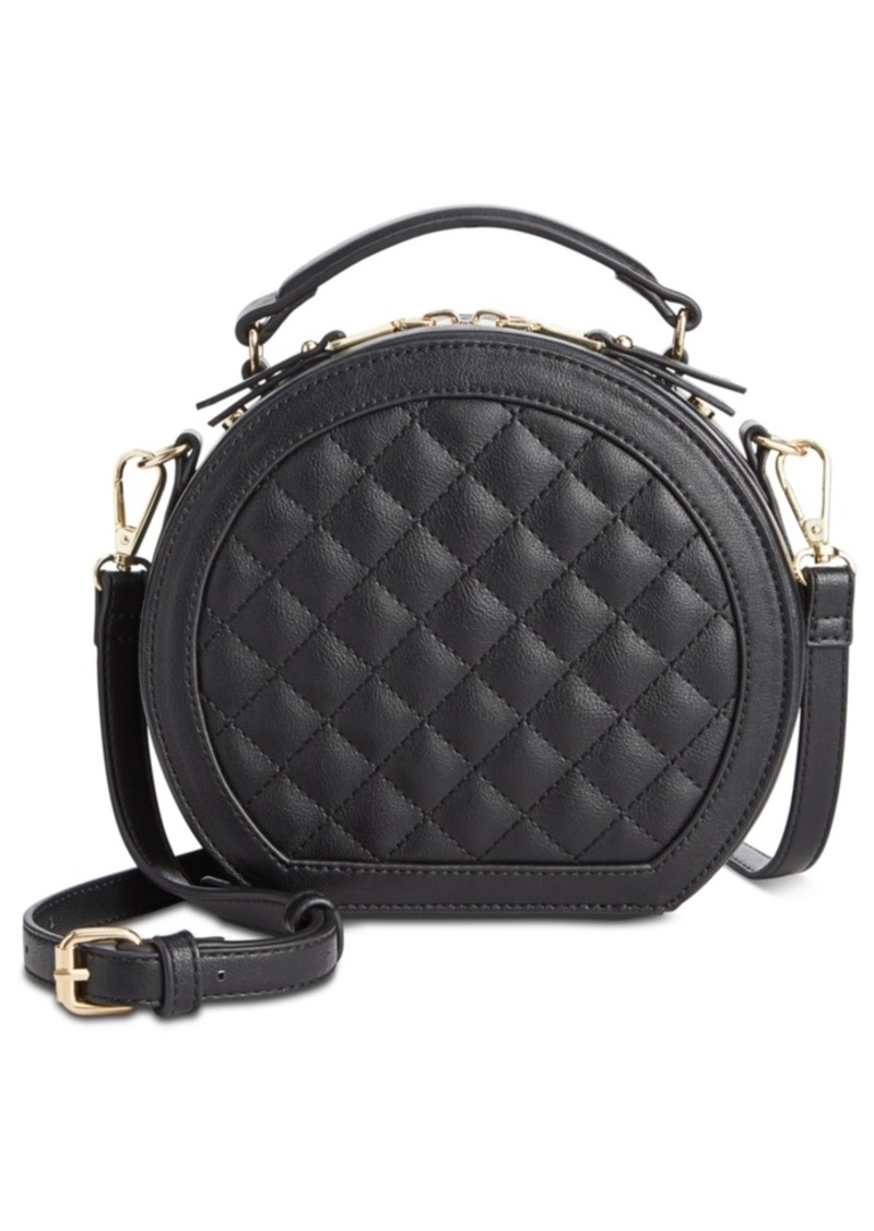INC International Concepts Inc Rilie Quilted Circle Top-Handle Crossbody, Created for Macy's