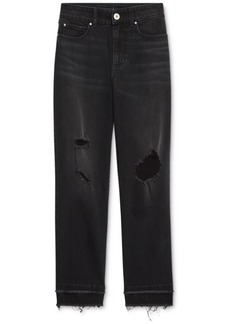 INC International Concepts Inc Ripped Straight-Leg Jeans, Created for Macy's
