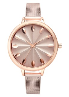INC International Concepts Inc Rose Gold-Tone Mesh Bracelet Watch 41mm, Created for Macy's