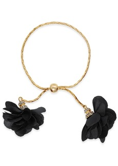 INC International Concepts Inc Imitation Pearl & Fabric Flower Bolo Bracelet, Created for Macy's