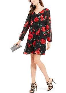 INC International Concepts Inc Rose-Print Chiffon Bow-Back Dress, Created For Macy's