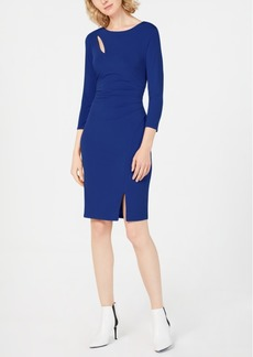 INC International Concepts I.n.c. Petite Ruched 3/4-Sleeve Bodycon Dress, Created for Macy's
