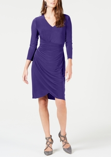 INC International Concepts I.n.c. Ruched 3/4-Sleeve Dress, Created for Macy's