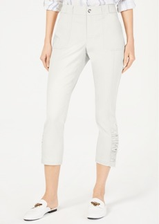 INC International Concepts Inc Ruched-Hem Cropped Pants, Created for Macy's