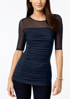 INC International Concepts Inc Ruched Illusion Top, Created for Macy's