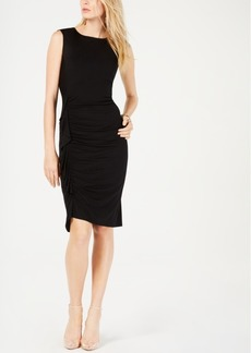 INC International Concepts I.n.c. Ruched Ruffled Dress, Created for Macy's