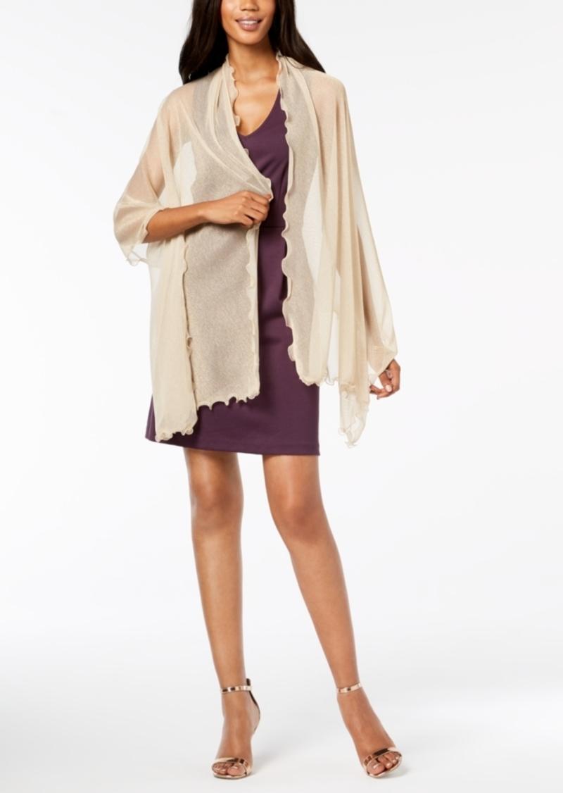 INC International Concepts Inc Ruffle-Edge Metallic Evening Wrap, Created for Macy's