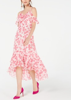 INC International Concepts I.n.c. Ruffled Cold-Shoulder Midi Dress, Created for Macy's