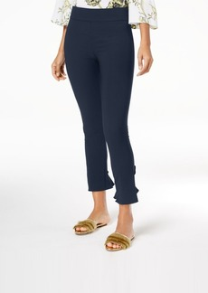 INC International Concepts Inc Curvy Ruffled-Hem Ankle Skinny Pants, Created for Macy's