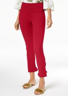 INC International Concepts I.n.c. Ruffled-Hem Ankle Skinny Pants, Created for Macy's