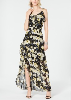 INC International Concepts I.n.c. Ruffled High-Low Maxi Dress, Created for Macy's