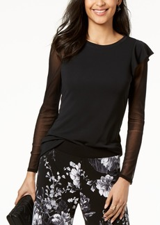 INC International Concepts I.n.c. Ruffled Illusion Top, Created for Macy's