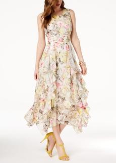 I.n.c. Petite Ruffled-Lace Maxi Dress, Created for Macy's