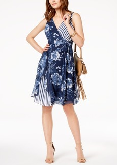 INC International Concepts I.n.c. Ruffled Mixed-Print Dress, Created for Macy's