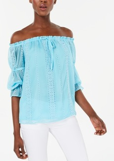 INC International Concepts I.n.c. Ruffled Off-The-Shoulder Blouse, Created for Macy's
