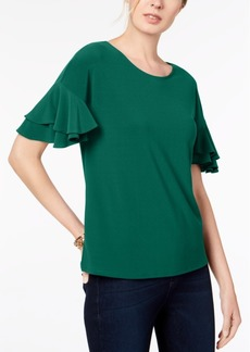 INC International Concepts I.n.c. Ruffled-Sleeve Top, Created for Macy's