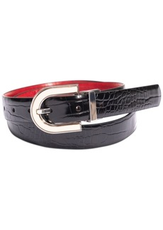 INC International Concepts Inc Saffiano to Smooth Faux-Leather Reversible Belt, Created for Macy's