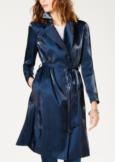 INC International Concepts I.n.c. Satin Tie-Belt Trench Jacket, Created for Macy's