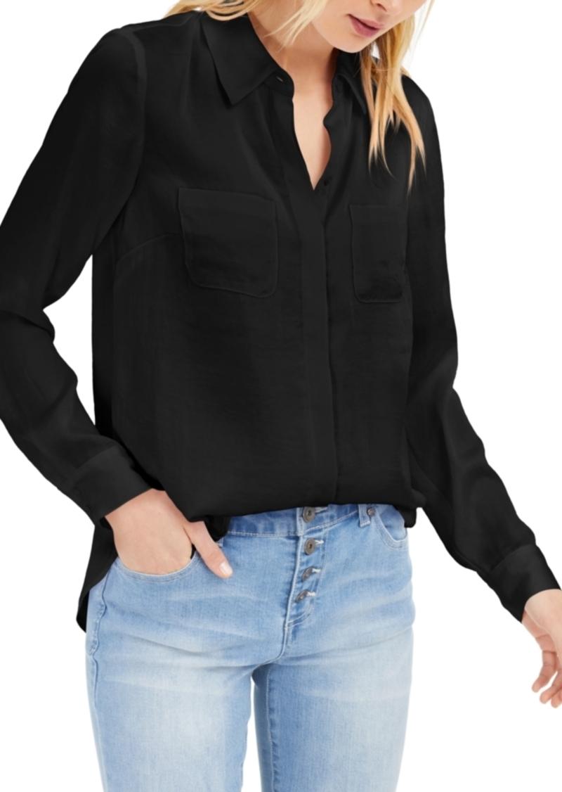 INC International Concepts Inc Satin Utility Shirt, Created for Macy's