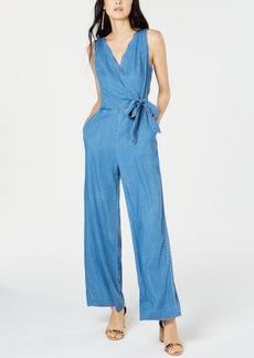 INC International Concepts Inc Scalloped-Edge Jean Jumpsuit, Created for Macy's
